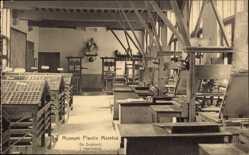 Ak Antwerpen Flandern, Museum Plantin Moretus, Drukkerij, Druckerei