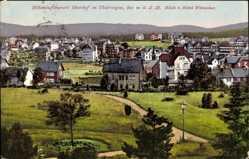 Postcard Oberhof im Thüringer Wald, Blick vom Hotel Wünscher auf den Ort