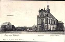 Postcard Fährbrück Hausen bei Würzburg, Messnerhaus, Wallfahrtskirche, Gastwirtschaft