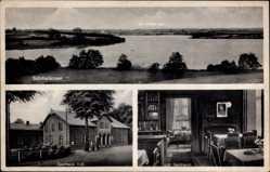 Postcard Schmalensee über Neumünster, Gasthaus Voß, Gastraum, Seepartie