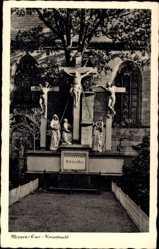 Postcard Meppen im Emsland in Niedersachsen, Kreuztracht, Statuengruppe