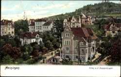 Ak Meiningen in Südthüringen, Blick auf Villen an der Donopskuppe