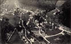 Postcard Bad Herrenalb im Schwarzwald, Blick vom Zeppelin aus, Fliegeraufnahme