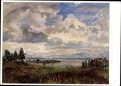 Künstler Ak Scheinhammer, Otto, Landschaft am Chiemsee