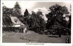 Foto Ak Auckland Neuseeland, The Domain, Herrenhaus, Grünanlagen