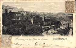 Postcard Luxemburg, Neueweg pris du Pont du Château, Panorama