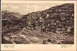 Postcard Jerusalem Israel, Village de Siloa, Alte Siedlung am Berg