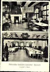 Postcard Coesfeld im Münsterland, Altdeutsche Gaststätte Schnieder Bauland, Kamin