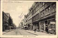 Postcard Wanne Eickel Herne, Blick in die Bahnhofstraße, Geschäfte, Gustav Vogel