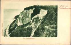 Postcard Stubbenkammer Sassnitz auf der Insel Rügen, Blick auf Klein Stubbenkammer