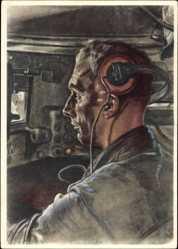 Künstler Ak Wolfgang Willrich, Der Panzerfahrer, Wehrmacht