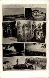 Ak Cieszyn Teschen Schlesien, Letnisko, Kurhaus, Markt, Pavillon, Brücke