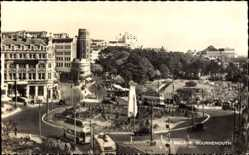 Postcard Bournemouth South West England, The Square, Kreisverkehr, Denkmal