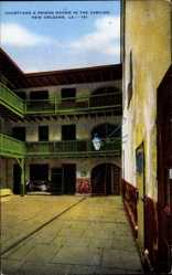 Postcard New Orleans Louisiana USA, Courtyard and Prison Rooms in the Cabildo