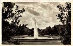 Postcard Lund Schweden, Stadsparken, Stadtpark, Brunnen, Fontäne