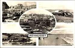 Postcard Mevagissey South West England, Chapel Point, Harbour, Port Mellon, Tuck