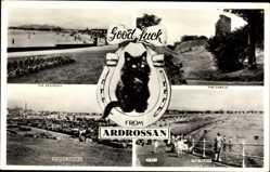 Postcard Ardrossan Schottland, Seafront, Castle, Beach, Sunken Garden, cat