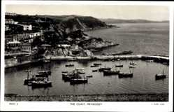 Postcard Mevagissey South West England, general view of the coast, Tuck and Sons