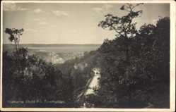Postcard Huskvarna Schweden, Utsikt fran Turishyddan, Blick auf den Ort