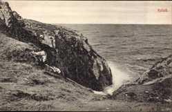 Postcard Kullen Schweden, Hälsning, Kullala, Felsen, Meer