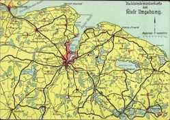 Landkarten Ak Kiel, Wanderkarte, Elmschenhagen, Schönkirchen, Gettorf, Nortorf