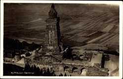 Postcard Kyffhäuserland Thüringen, Blick auf das Denkmal, Felder, Mauerwerk