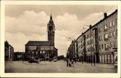 Postcard Dessau in Sachsen Anhalt, Neubauten, Zerbster Straße, Rathaus