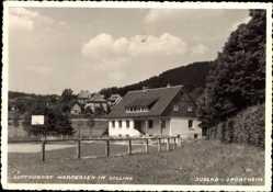 Foto Ak Hardegsen im Solling, Blick auf das Jugend Sportheim, Sportplatz