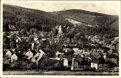 Postcard Elgersburg im Ilm Kreis Thüringen, Totalansicht der Ortschaft, Hohe Wartskopf