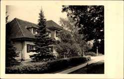 Postcard Storkow in der Mark, Heim Hirschluch, Güldene Sonne, Straßenpartie