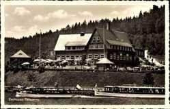 Postcard Kriebstein Mittelsachsen, Zschopau Talsperre, Gaststätte, Terrasse, Schiffe