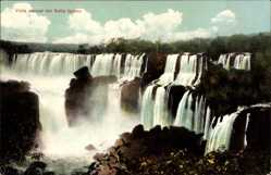 Postcard Salto Iguazu Argentinien, Puerto Aguiere, Vista parcial, Wasserfall