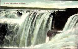 Postcard Salto Iguazu Argentinien, El Salto La Garganta del Diablo, Wasserfall