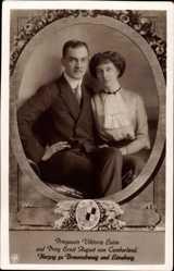 Passepartout Ak Prinzessin Viktoria Luise, Prinz Ernst August, Braunschweig