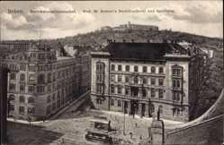 Ak Brno Brünn Südmähren, Bezirkshauptmannschaft, Rohrers Buchdruckerei
