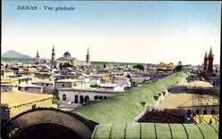 Postcard Damaskus Syrien, Vue generale, Blick auf den Ort, Moschee, Minarette