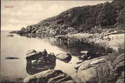 Postcard Ransvik Schweden, Meerpartie, Felsen, Berg, Landschaft