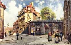 Künstler Ak C. Flower, Bayreuth, Eingang zum Hofgarten, Tuck 642