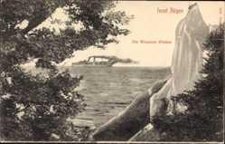 Postcard Sassnitz auf der Insel Rügen, die Wissower Klinken