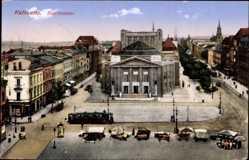 Ak Katowice Kattowitz Schlesien, Stadttheater, Straßenbahn, Ottmar Zieher