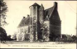 Ak La Riche Indre et Loire, Plessis les Tours, Le Château et la Tour