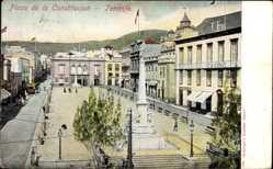Postcard Teneriffa Kanarische Inseln Spanien, Plaza de la Constitucion