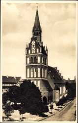 Ak Ełk Lyck Masuren Ostpreußen, Blick auf die Evangelische Kirche