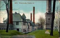 Postcard Toledo Ohio USA, general view of the Waterworks, Wasserwerke
