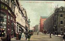 Postcard Birmingham West Midlands England, New Street and Grammar School