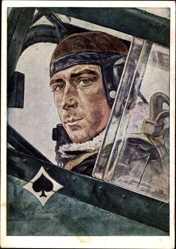 Künstler Ak Willrich, W., Oberstleutnant Werner Mölders, Jagdflieger
