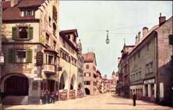 Ak Lindau im Bodensee Schwaben, Blick in die Maximilianstraße, Gaslampe
