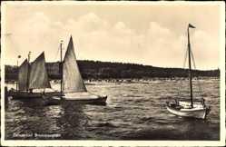 Postcard Ostseebad Brunshaupten Kühlungsborn im Kreis Rostock, Segelboote