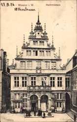 Postcard Münster in Westfalen, Blick auf das Stadtweinhaus