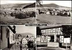 Postcard Dermbach im Wartburgkreis, Markt, Geisaer Straße, Baier, Unter und Oberalba